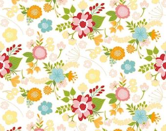"Riley Blake Designs Wistful Winds"" by Doohikey Designs. 100% cotton, pattern C5440- WHITE- Main."