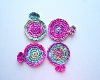Crochet Mermaid Doilies ~ 4 pieces