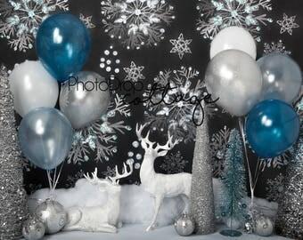 Winter Birthday- 60x80 Fleece - Wrinkle Resistant - Backdrop