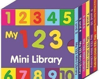 Preschool My 123 Mini Library Board Books Learn The Numbers Counting. Children Educational Board Book 2640123ML