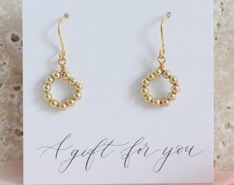 Eternity earrings / circle earrings / handmade earrings / birthday gift / anniversary gift / gift for her