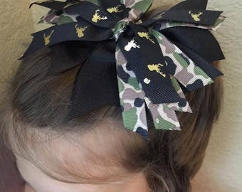 Black and Camo Deer Bow TOO CUTE!