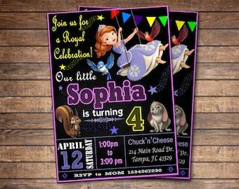 Sophia the First Invitation, Sophia the First Birthday Party, Sophia invitation, Princess Sophia, Personalized, Printable, Digital File