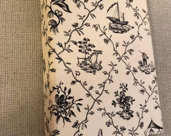 French Toile Small Three Ring Binder