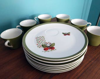 Vintage Georges Briard Butterfly Dish Set