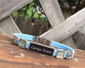 Carpe Diem Themed Bracelet