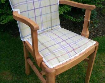 Vintage chair refurbished in tartan