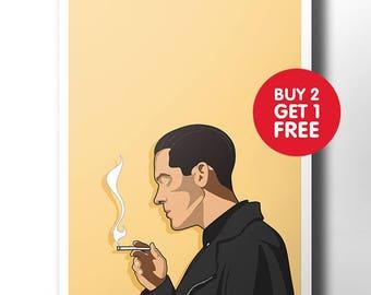 G Eazy poster / wall art / wall decor / rap poster / hip hop / rap artist / dope art / minimalist music poster / rapper / art print