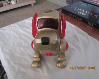 Poo-Chi Electronic Interactive Robot Dog by Tiger 2000 Gold/Red