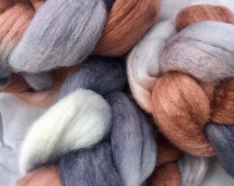 Spinning fiber, roving, Polwarth/silk