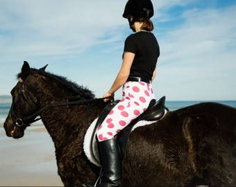 Pink and White Polka Dot Breeches