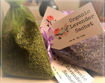 Organic French Lavender Sachet - Chemical Free - Natural Moth Repellant   Tell it to the Bee   Perfect Traditional European Gift Party Favor