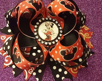 Minnie Mouse stacked hair bow..Minnie mouse bow..Disney hair bows..Minnie mouse..Disney bows..