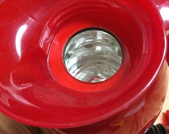 Vintage thermos coffee pot or carafate  red