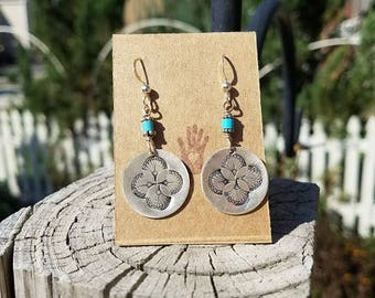 Turquoise 4 Winds Sterling Silver Earrings
