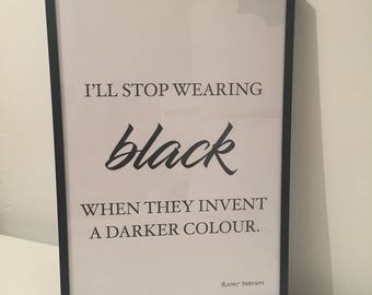 Ill stop wearing black when they invent anither colour print