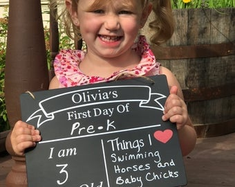 First and Last day chalkboard, First day of school sign, Two sided school sign, First day of kindergarten, Back to school sign, Reuseable
