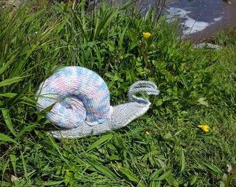 Handmade stuffed snail toy