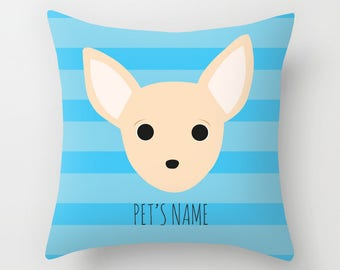 Chihuahua Pillow, Chihuahua Cushion, Decorative Chihuahua Cushion - Dog Pillow, Dog Gift, Custom Dog Name Pillow