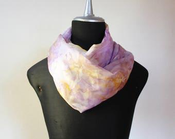 hand-dyed silk scarf/stole/scarf/silk scarf silk scarves hand dyed/purple silk shibori scarf//100% silk shibori scarf/marble/