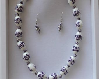Bespoke fashion jewelry - ceramic Violet