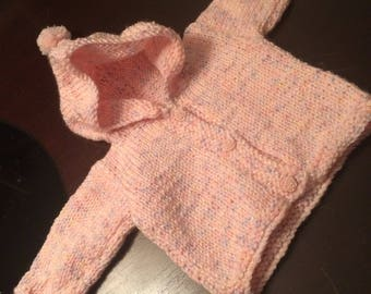 Handmade knit baby sweater
