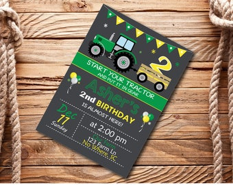 Farm Birthday Party Invite