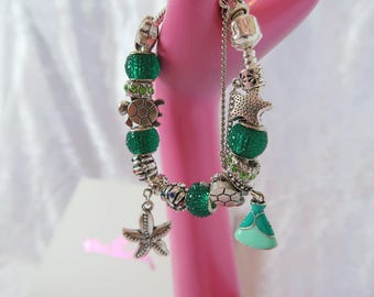PRE-ORDER 5 WKs Princess Of The Sea Charm Bead Bracelet