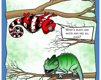 Everyone's a chameleon - Funny Printable Greeting Card