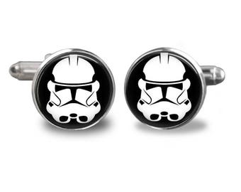 Star Wars stormtrooper cufflinks star wars cufflinks star wars cufflinks stormtrooper cufflinks mens cufflinks glass cufflinks mens cufflink