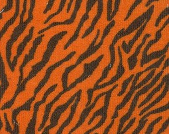 Corduroy Tiger Print Fabric by Fabric Finders - Sewing - Quilting - Apparel