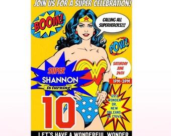 Wonder Woman Digital Invitation