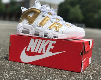 Nike Air Uptempo 18k Gold Custom