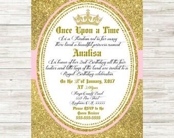 Royal Princess Birthday Invitation 5x7