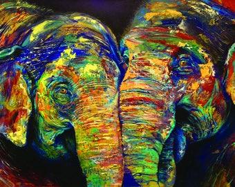 Indian Elephants Print