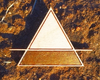 Gold Triangle Pin
