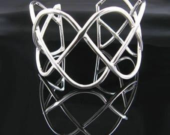 Silver Sine Waves Cuff Bracelet