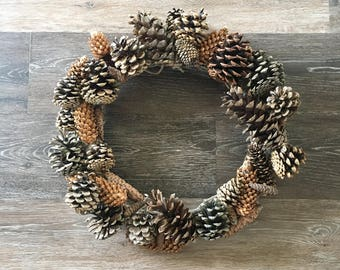 Natural Pinecone Wreath