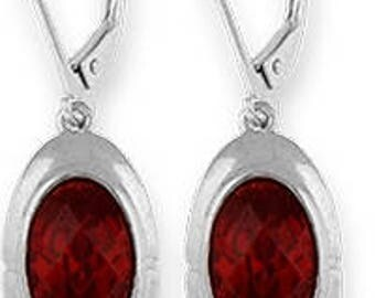 Silver Earrings With Cubic Zirconia (ez652gn)