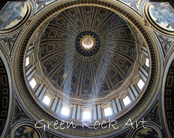 Roof of St. Peter's, Vatican Canvas Print.