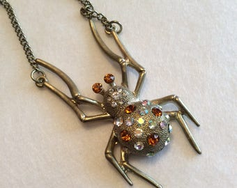 Vintage Spider Necklace, perfect for Halloween Costumes