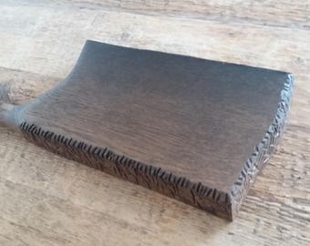 Bog oak cutting board