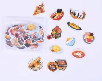 Cute Daily Food Sticker Flakes, Planner, Scrapbooking, Decoration Sticker