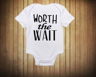 Worth The Wait Baby Onesie