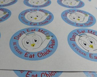 Vegan activism stickers chickens