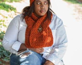 Burnt Orange scarf & headband set