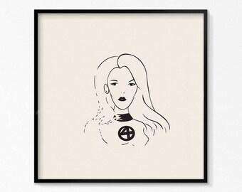 Invisble Woman Mini Print