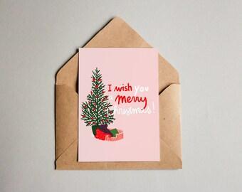 postcard Merry Christmas (print)