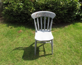 Hand painted dining chair.
