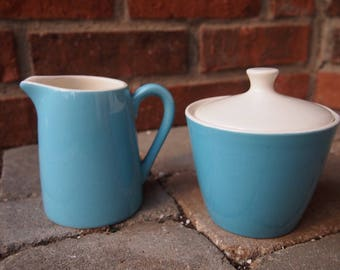 1950's Creamer pitcher and sugar bowl